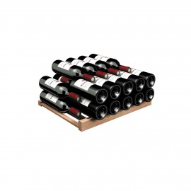 Storage shelf for Bordeaux and Burgundy bottles - Wood front, Compact 5000 Series