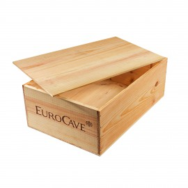 Wooden case for storing 12 bottles of wine