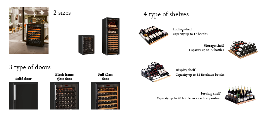 Wine cabinet 6000 Series - More configurations for your wine cabinet