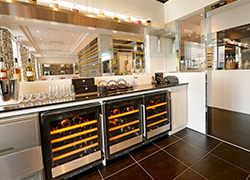 Easy access to your ready-to-serve wine bottles by opting for undercounter wine cellars.
