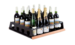 Wine cabinet internal layout - to store opened bottles upright with an easy access.