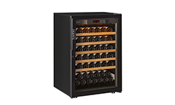 EuroCave Professional choice of wine cabinet door - UV-proofed entirely glass doors.