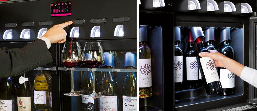 Professionals, increase productivity for wine service with Vin au Verre