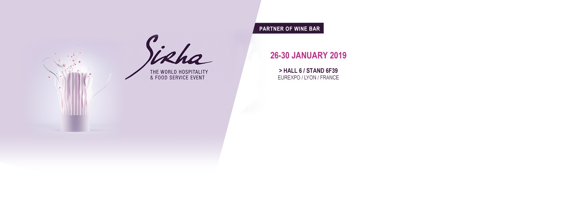 SIRHA 2019 - Get your free invitation and discover the new EuroCave products : wine dispensers, wine cabinets...