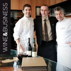 Renovation of the wine room at Régis Marcon's restaurant